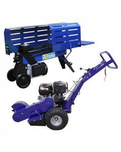 T-Mech Log Splitter 7T 520mm & T-Mech 13HP Stump Grinder