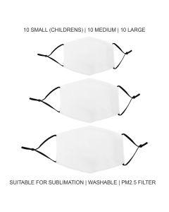 Face Masks Sublimation Blanks Bundle / 30 Pack
