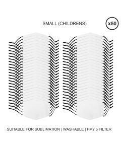 Small Face Masks Sublimation Blanks / 50 Pack