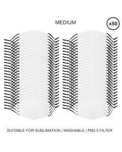 Large Face Masks Sublimation Blanks / 50 Pack