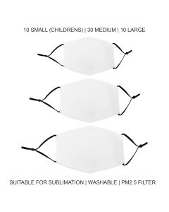 Face Masks Sublimation Blanks Bundle / 50 Pack