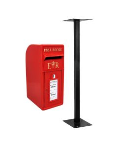 Red Royal Mail Post Box with Stand