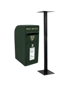 Green Irish Post Box with Stand