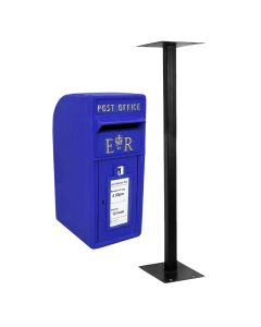 Blue Scottish Post Box with Stand