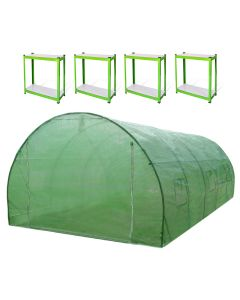 Polytunnel 25mm 6m x 3m with Racking