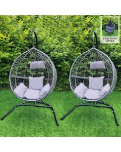 2 Grey Egg Chairs