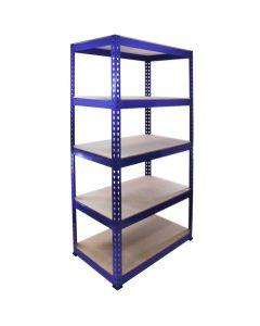 Q-Rax Blue Shelving Units - 90cm x 180cm x 50cm