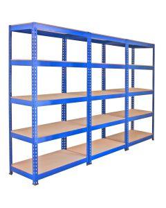 3 x Q-Rax 90 x 50 x 180cm Blue