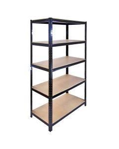 Monster Racking T-Rax Metal Storage Shelves, Black, 90cm W, 45cm D