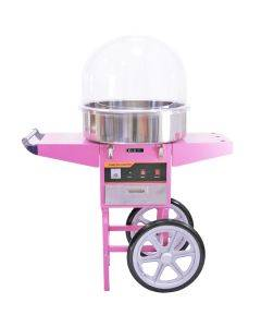 KuKoo Candy Floss Machine with Cart & Protective Dome