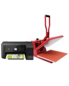 PixMax T-Shirt Sublimation Heat Press Machine, 38cm x 38cm Clam, Red