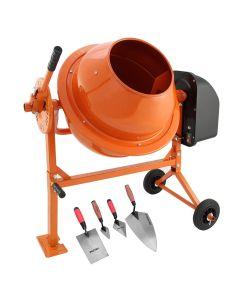 70L T-Mech Electric Cement Mixer With Trowel Set