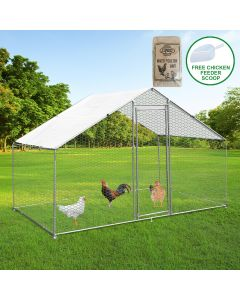Chicken Run 3m x 2m x 2m & 25Kg Mixed Poultry Grit
