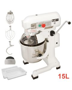 Commercial 15L Planetary Food Mixer & 2 Dough Trays