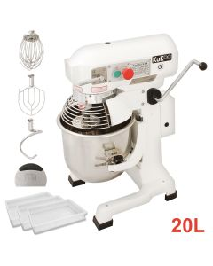 Commercial 20L Planetary Food Mixer & 3 Dough Trays