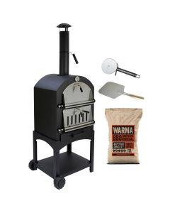 KuKoo Outdoor Pizza Oven & Warma Lumpwood Charcoal