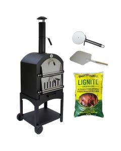 KuKoo Outdoor Pizza Oven & Clean Burning Coal