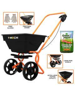 T-Mech Rotary Spreader with Greenforce Lawn Feed & Weedkiller