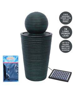Round Ball Solar Water Feature With Aquatic Cleaner