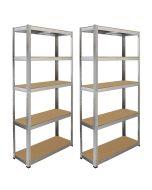Monster Racking 2 x Galwix Galvanised Steel Shelves, 90cm Wide