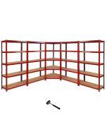 Z-Rax 90cm Corner Racking Bundle: Corner Shelving & 4 Garage Racking Bays