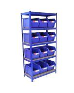 T-RAX Blue 90cm with 12 x Storage Quick Pick Bins