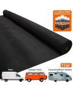 Van Carpet Lining / Black & 5 Adhesive Cans
