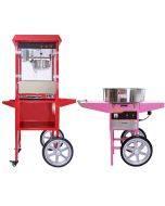 KuKoo 8oz Popcorn Machine & Candy Floss Machine with Carts