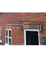 MonsterShop Glass Door Canopy & Brackets, 144cm W, 80cm D