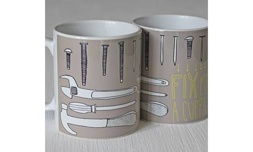Fix Me A Cuppa Illustrated Mug For DIY Enthusiasts